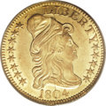 Early Half Eagles, 1804 $5 Small 8 MS60 PCGS....