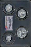Modern Bullion Coins: , 2005 Platinum American Eagle Set MS69 PCGS. The set includes the$10 Tenth-Ounce, $25 Quarter-Ounce, $50 Half-Ounce, and $10...(Total: 4 coins)