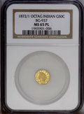 California Fractional Gold: , 1872/1 50C Indian Octagonal 50 Cents, BG-937, High R4, MS65 NGC.PCGS Population (3/0). ...