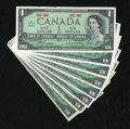 Canadian Currency: , Centennial $1s.. ... (Total: 8 notes)