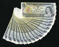 Canadian Currency: , 1973 $1s.. ... (Total: 17 notes)