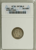 Coins of Hawaii: , 1883 10C Hawaii Ten Cents--Scratched--ANACS. VF20 Details....