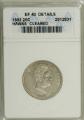 Coins of Hawaii: , 1883 25C Hawaii Quarter--Cleaned--ANACS. XF40 Details. NGC Census:(4/625). PCGS Population (18/1039). Mintage: 500,000. (...