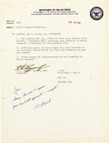 Autographs:Celebrities, Alan Shepard Autograph Note Signed...