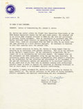 "Autographs:Celebrities, Donald K. Slayton Typed Letter Signed ""D.K. Slayton,"" onepage, 8"" x 10.5"". NASA, Houston, Texas, September 29, 1970. To...(Total: 1 Item)"