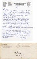 "Autographs:Celebrities, Jack Swigert Autograph Letter Signed ""Jack"" as ExecutiveDirector, House Committee on Science and Astronautics, one page...(Total: 1 Item)"