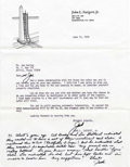 "Autographs:Celebrities, Jack Swigert Typed Letter Signed ""Jack"" with 70 wordhandwritten postscript signed ""Jack,"" one page, 8.25"" x10.5"" W... (Total: 1 Item)"