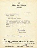 """Transportation:Space Exploration, Edward H. White II Autograph Note Signed """"Ed,"""" at bottom of letter to him, beneath Autograph Note of Alan Shepard. T... (Total: 1 Item)"""