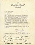 """Autographs:Celebrities, Edward H. White II Autograph Note Signed """"Ed,"""" at bottom ofletter to him. Typed Letter Signed """"Mort Love"""" as Execut...(Total: 1 Item)"""