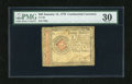 Colonial Notes:Continental Congress Issues, Continental Currency January 14, 1779 $20 PMG Very Fine 30. Asplendid example from this final Continental emission which ha...