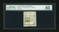 Colonial Notes:Connecticut, Connecticut October 11, 1777 5d PMG Choice Uncirculated 63. A verywell margined example of this small change note that has ...