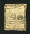 Colonial Notes:Massachusetts, Massachusetts 1779 5s/6d Fine. This note is boldly printed butfeatures a repair on the back at center....