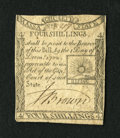 Colonial Notes:Massachusetts, Massachusetts 1779 4s Fine. A non-numismatist tried their hand atrepairing this note with the placement of two small pieces...