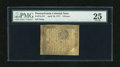 Colonial Notes:Pennsylvania, Pennsylvania April 10, 1777 6d PMG Very Fine 25. A very wellmargined example of this small change note that should find a h...