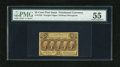 Fractional Currency:First Issue, Fr. 1282 25c First Issue PMG About Uncirculated 55. A lightlyhandled example of this much scarcer straight edge no monogram...