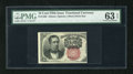 Fractional Currency:Fifth Issue, Fr. 1266 10c Fifth Issue PMG Choice Uncirculated 63EPQ. Everything about this short key Meredith screams gem except for the ...
