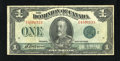 Canadian Currency: , DC-25j $1 1923. Original surfaces claim this $1. Very Fine....
