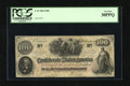 Confederate Notes:1862 Issues, T41 $100 1862. This $100 is printed on CSA block watermarked paper.PCGS Very Fine 30PPQ....