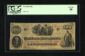 Confederate Notes:1862 Issues, T41 $100 1862. This $100 has toned a shade. PCGS Very Fine 30....