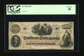 Confederate Notes:1862 Issues, T41 $100 1862. This ever-popular type features a portrait ofSouthern icon John C. Calhoun at left. PCGS Very Fine 20....