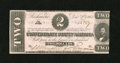 "Confederate Notes:1862 Issues, T54 $2 1862 Cr-392. This is the rare variety which shows doublingof ""1st Series."" The note is utterly original with the des..."