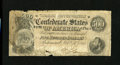 Confederate Notes:1864 Issues, T64 $500 1864. This note saw plenty of circulation. It has several edge tears including an approximate three-fourths bottom ...