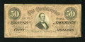 Confederate Notes:1864 Issues, T66 $50 1864. This $50 is still snappy with nice edges for the grade. Fine....