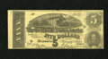 Confederate Notes:1864 Issues, T69 $5 1864 Facsimile Advertising Note. This note advertises E. Deitzer's shoe store in Honesdale, Pennsylvania. Edge wear i...