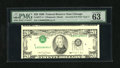 Error Notes:Inverted Third Printings, Fr. 2077-G $20 1990 Federal Reserve Note. PMG Choice Uncirculated63 EPQ.. We have not seen too many examples of this type o...