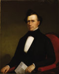Fine Art - Painting, American:Antique  (Pre 1900), Alenson G. Powers (1817-1867). Franklin Pierce, 1852. Oil oncanvas. 36 x 29 inches (91.4 x 73.7 cm). Signed and dated...