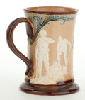 Ceramics & Porcelain, A DOULTON LAMBETH SALT GLAZED STONEWARE MUG WITH GOLF SCENE . Doulton & Co., Lambeth, England, circa 1900. Marks: DOULTON...