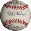Autographs:Baseballs, Hall of Fame Pitchers Multi-Signed Baseball....