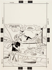 Pep Comics #186 Cover Original Art (Archie, 1965)