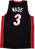 Basketball Collectibles:Uniforms, Dwyane Wade Signed Jersey....