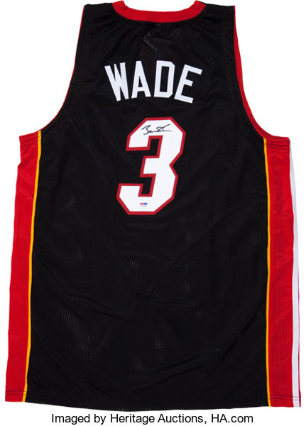 separation shoes ae5e2 0a57d Dwyane Wade Signed Jersey.... Basketball Collectibles ...