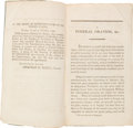 Political:Small Miscellaneous (pre-1896), George Washington: First American Edition of Lee's Oration....