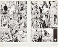 "Original Comic Art:Panel Pages, Dave Gibbons Watchmen #8 ""Old Ghosts"" Death of Original Nite Owl (Hollis Mason) Pages 27 and 28 Original Art (DC, ... (Total: 2 Items)"