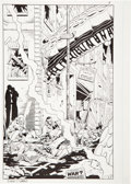 Original Comic Art:Splash Pages, Dave Gibbons Watchmen #12 Splash Page 5 Original Art andColor Guide Group (DC, 1987).... (Total: 2 Items)