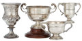 Silver Holloware, British:Holloware, MALCOLM S. FORBES COLLECTION: FOUR ENGLISH SILVER TROPHY CUPS DATEDFROM 1855 TO 1930 . 10 inches high (25.4 cm) (tallest)...