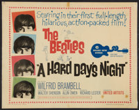 "A Hard Day's Night (United Artists, 1964). Laminated Half Sheet (22"" X 28""). Rock and Roll"