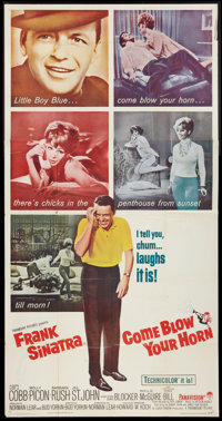 """Come Blow Your Horn (Paramount, 1963). Three Sheet (41"""" X 81""""). Comedy"""
