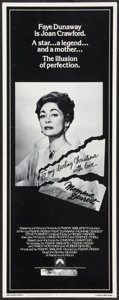 "Movie Posters:Drama, Mommie Dearest (Paramount, 1981). Insert (14"" X 36""). Drama.. ..."