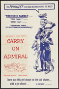 "Movie Posters:Comedy, Carry On Admiral (Go Pictures, 1958). One Sheet (27"" X 40.75""). Comedy.. ..."