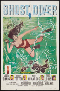 "Ghost Diver (20th Century Fox, 1957). One Sheet (27"" X 41""). Adventure"