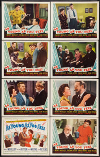 """As Young As You Feel (20th Century Fox, 1951). Lobby Card Set of 8 (11"""" X 14""""). Comedy. ... (Total: 8 Items)"""