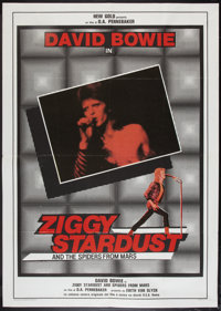 "Ziggy Stardust and the Spiders from Mars (20th Century Fox, 1983). Italian 2 - Foglio (39"" X 55""). Rock and Ro..."