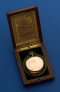 Timepieces:Pocket (post 1900), Howard Gold Filled 17 Jewel 16 Size Pocket Watch With Original Box. ...