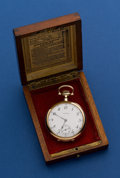 Timepieces:Pocket (post 1900), Howard 14k Gold 23 Jewel Series O 16 Size Pocket Watch With Original Box. ...
