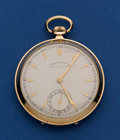 Timepieces:Pocket (post 1900), Swiss 48 mm 14k Gold Pocket Watch. ...