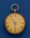 Timepieces:Pocket (pre 1900) , H. A. Thomas 18k Gold 40 mm Lever Fusee Pocket Watch. ...